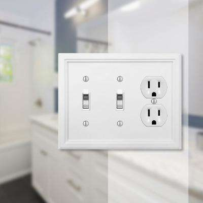 Elly 3 Gang 2-Toggle and 1-Duplex Composite Wall Plate - White