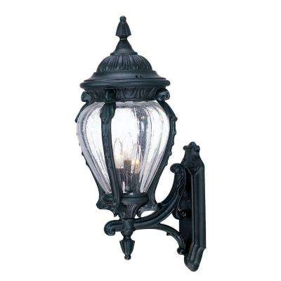 Nottingham Collection Wall-Mount 3-Light Outdoor Matte Black Fixture