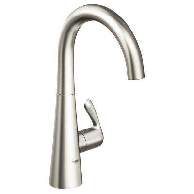 LadyLux 3 Single-Handle Bar Faucet in SuperSteel Infinity Finish