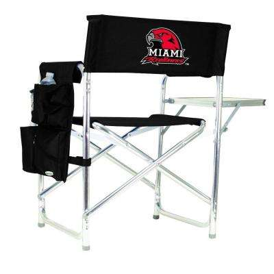 Miami (OH) University Black Sports Chair with Digital Logo