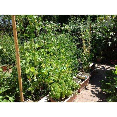 15 ft. x 5 ft. Garden Trellis Kit With 50 ft. 16 Gauge Galv Looped Wire, Netting, 4-Eyebolts, Nuts and Washers