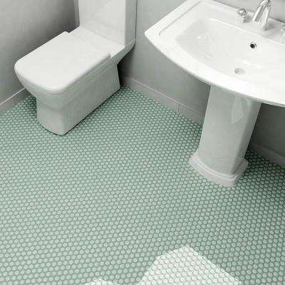Metro Hex Matte Light Green 10-1/4 in. x 11-3/4 in. x 5 mm Porcelain Mosaic Tile (8.56 sq. ft. / case)