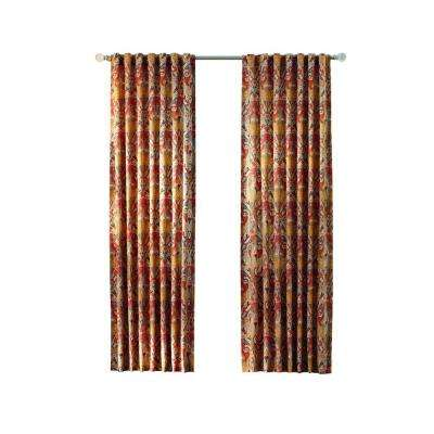Paisley Back Tab Curtain