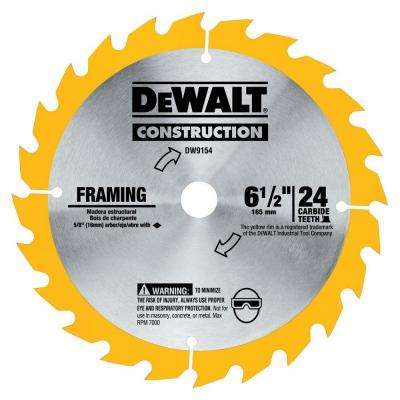 6-1/2 in. 24-Tooth Carbide Blade for Framing