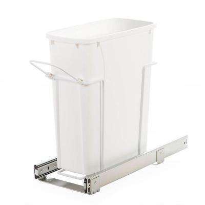 8.38 in. x 20 in. x 17.31 in. In Cabinet Pull-Out Bottom Mount Trash Can