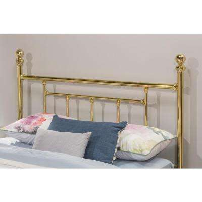 Chelsea Queen-Size Headboard with Rails in Classic Brass