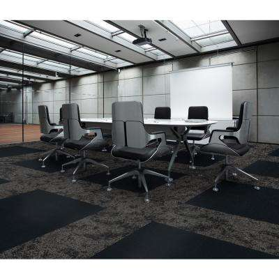 19.68 in. x 19.68 in. Reed Black Level Loop Carpet Tile (8 in. Tiles/Case)