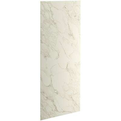 Choreograph 0.3125 in. x 32 in. x 96 in. 1-Piece Shower Wall Panel in CrossCut Biscuit for 96 in. Showers