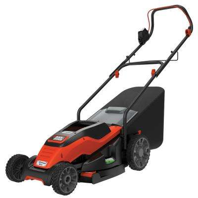 15 in. 10 Amp Corded Walk Behind Battery Push Mower