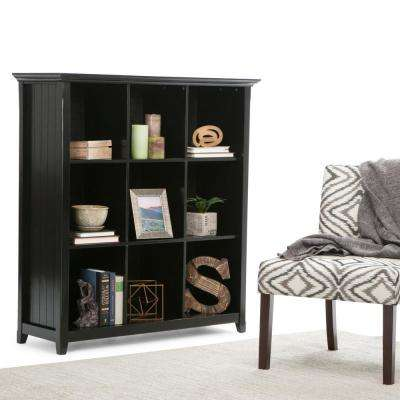Acadian 6-Shelf Bookcase with 9 Cube Storage in Black
