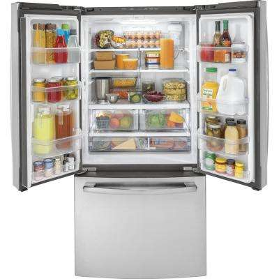 33 in.18.6 cu. ft. French Door Refrigerator in Stainless Steel, Counter Depth