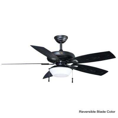 Gazebo 52 in. LED Indoor/Outdoor Natural Iron Ceiling Fan with Light Kit