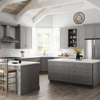Melvern Assembled 24x34.5x23.75 in. Drawer Base Kitchen Cabinet in Heron Gray
