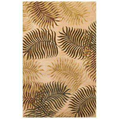 Giant Fern Natural 2 ft. 6 in. x 4 ft. 2 in. Area Rug