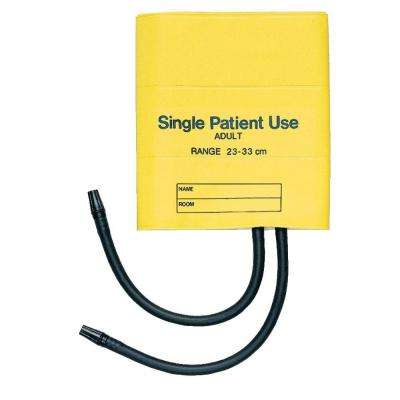 Two-Tube Single-Patient Use Cuff in Yellow