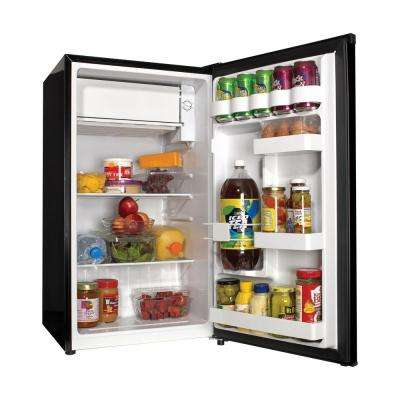 18 in. W 3.3 cu. ft. Mini Refrigerator in Black