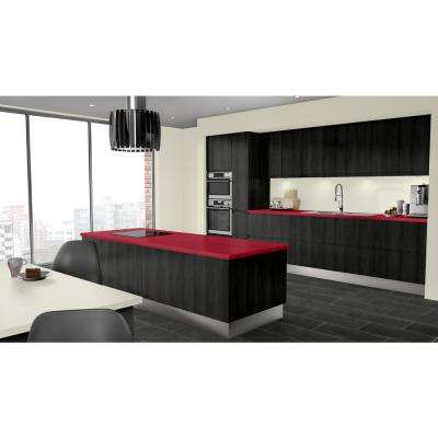 2 in. x 3 in. Laminate Countertop Sample in Hollyberry with Standard Matte Finish