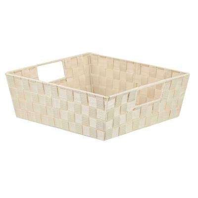 12 in. D x 8 in. H Ivory Non Stackable Bin