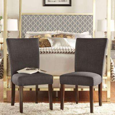 Whitmire Linen Dining Side Chair in Charcoal (Set of 2)