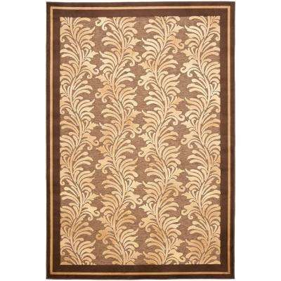 Plume Stripe Brown 4 ft. x 5 ft. 7 in. Area Rug