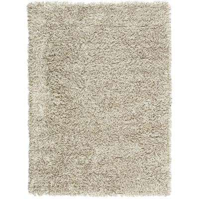 Ultimate Shag Grey/White 9 ft. x 12 ft. Area Rug