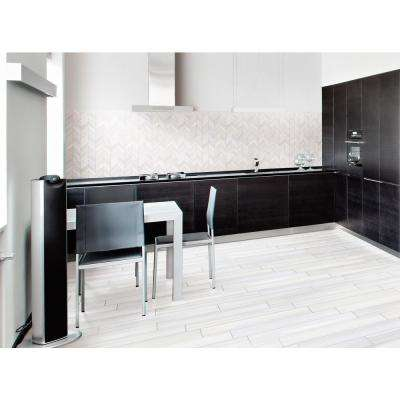 Water Color Bianco 12 in. x 15 in. x 10mm Glazed Porcelain Mesh-Mounted Mosaic Tile (5 sq. ft. / case)