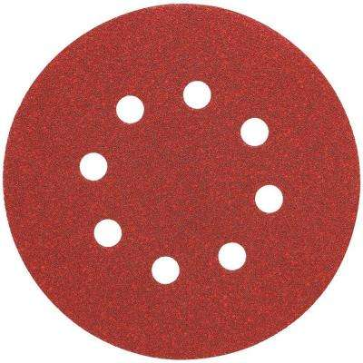 5 in. 8 Hole 220-Grit H and L Random Orbit Sandpaper (25-Pack)