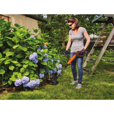 SMARTECH 20V Max Lithium Ion Electric Cordless EASYFEED String Trimmer with (1) 1.5Ah Battery & Charger Included