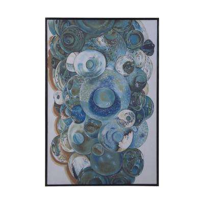 "50 in. x 34 in. ""Marine Glass""  Framed Printed Canvas Wall Art"