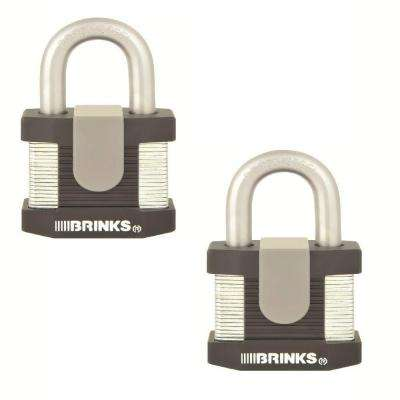 Commercial 2.125 in. Laminated Steel Keyed Padlock (2-Pack)