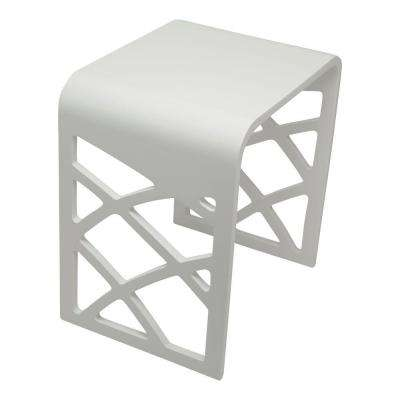 Lattice Resin Shower Seat in White