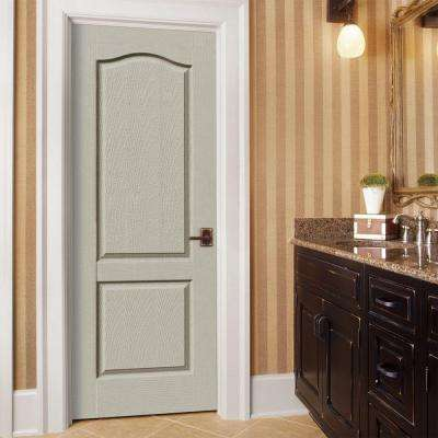 30 in. x 80 in. Princeton Desert Sand Painted Left-Hand Smooth Molded Composite MDF Single Prehung Interior Door