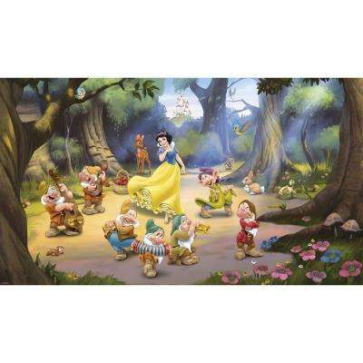 72 in. x 126 in. Snow White and the Seven Dwarfs Ultra-Strippable Wall Mural