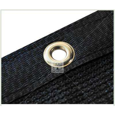 6 ft. x 50 ft. Black Privacy Fence Screen Mesh Fabric Cover Windscreen with Reinforced Grommets for Garden Fence