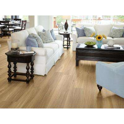 Alliant 7 in. x 48 in. Maize Resilient Vinyl Plank Flooring (34.98 sq. ft. / case)