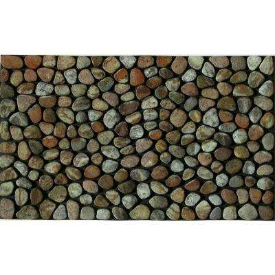 Pebble Beach 18 in. x 30 in. Recycled Rubber Door Mat