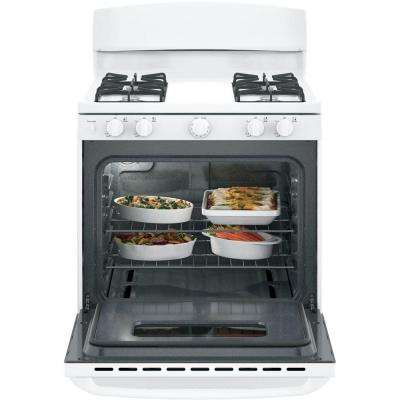 30 in. 4.8 cu. ft. Free-Standing Gas Range in White