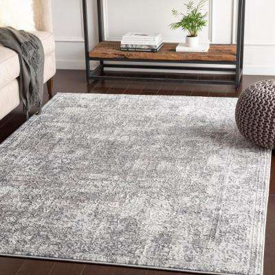 Dagmar Medium Grey 5 ft. 3 in. x 7 ft. 3 in. Solid Area Rug