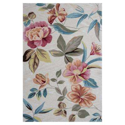 Wild Blossoms Beige/Red 8 ft. x 10 ft. 6 in. Area Rug