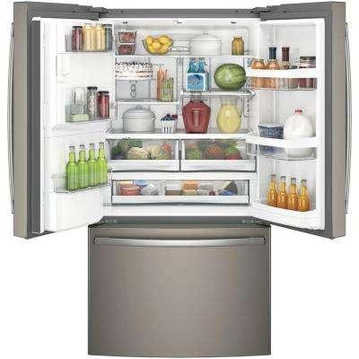 22.2 cu. ft. French Door Refrigerator in Slate, Counter Depth. Fingerprint Resistant and ENERGY STAR