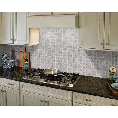 Anya Blanco Encaustic 12 in. x 12 in. x 6mm Glazed Ceramic Mesh-Mounted Mosaic Tile (14.55 sq. ft. / case)