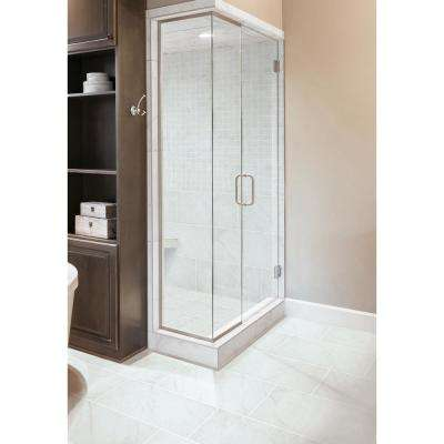 Brilliance White 3 in. x 12 in. Porcelain Floor and Wall Bullnose Tile (5 sq. ft. / case)