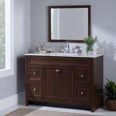 Brinkhill 48 in. W x 34 in. H x 22 in. D Bath Vanity Cabinet Only in Cognac