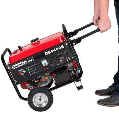 3500-Watt Electric Start Gasoline Powered Portable Generator with Wheel Kit