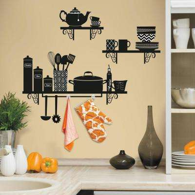 5 in. x 19 in. Build a Kitchen Shelf 37-Piece Peel and Stick Giant Wall Decal