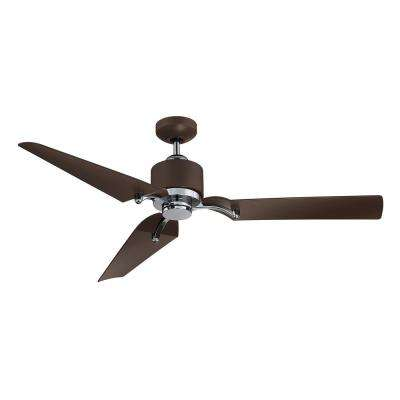 52 in. LED Indoor/Outdoor Metallic Bronze and Chrome Ceiling Fan