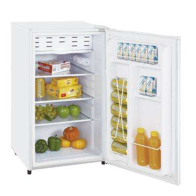 3.3 cu. ft. Classic Mini Refrigerator and Chiller in White