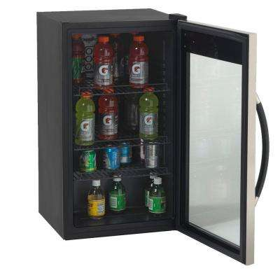 18.75 in. 10-Bottle Wine and 70-Can Beverage Cooler in Black