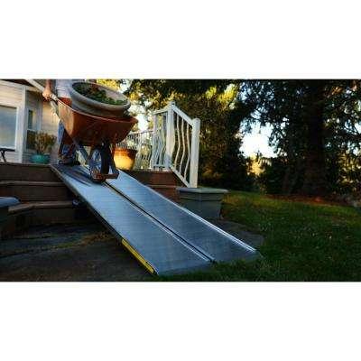 TRAVERSE 4 ft. Singlefold Edgeless Aluminum Loading Ramp