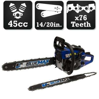 2-In-1 20 in. and 14 in. 45cc Gas Chainsaw Combo
